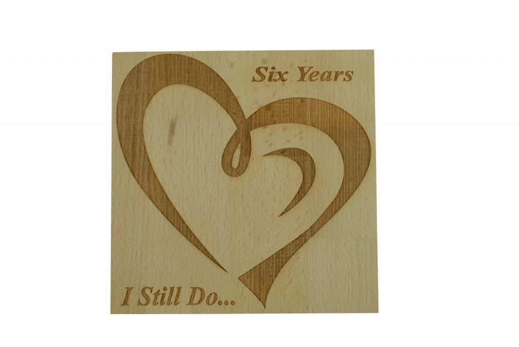 6 Year Anniversary I Still Do u2013 Light Beech Block  sc 1 st  Anniversary Gifts & 6 Year Anniversary I Still Do - Light Beech Block - Anniversary Gifts
