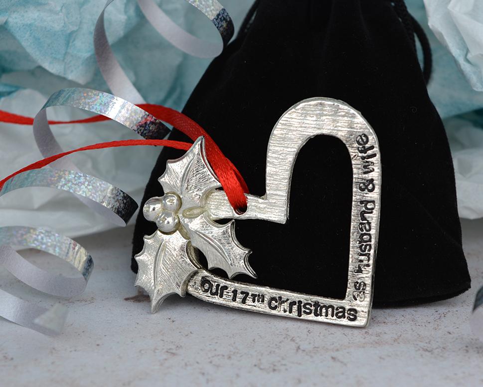 17th anniversary christmas husband wife gift anniversary gifts