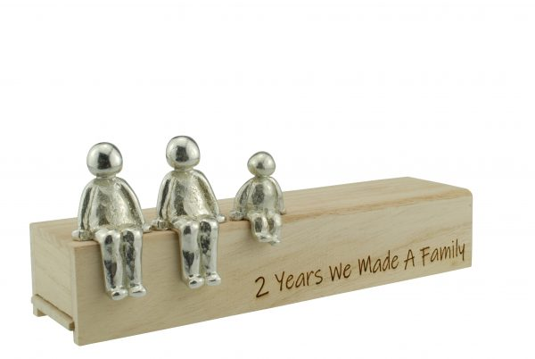 2nd Anniversary We Made a Family Decoration with Tin Figures
